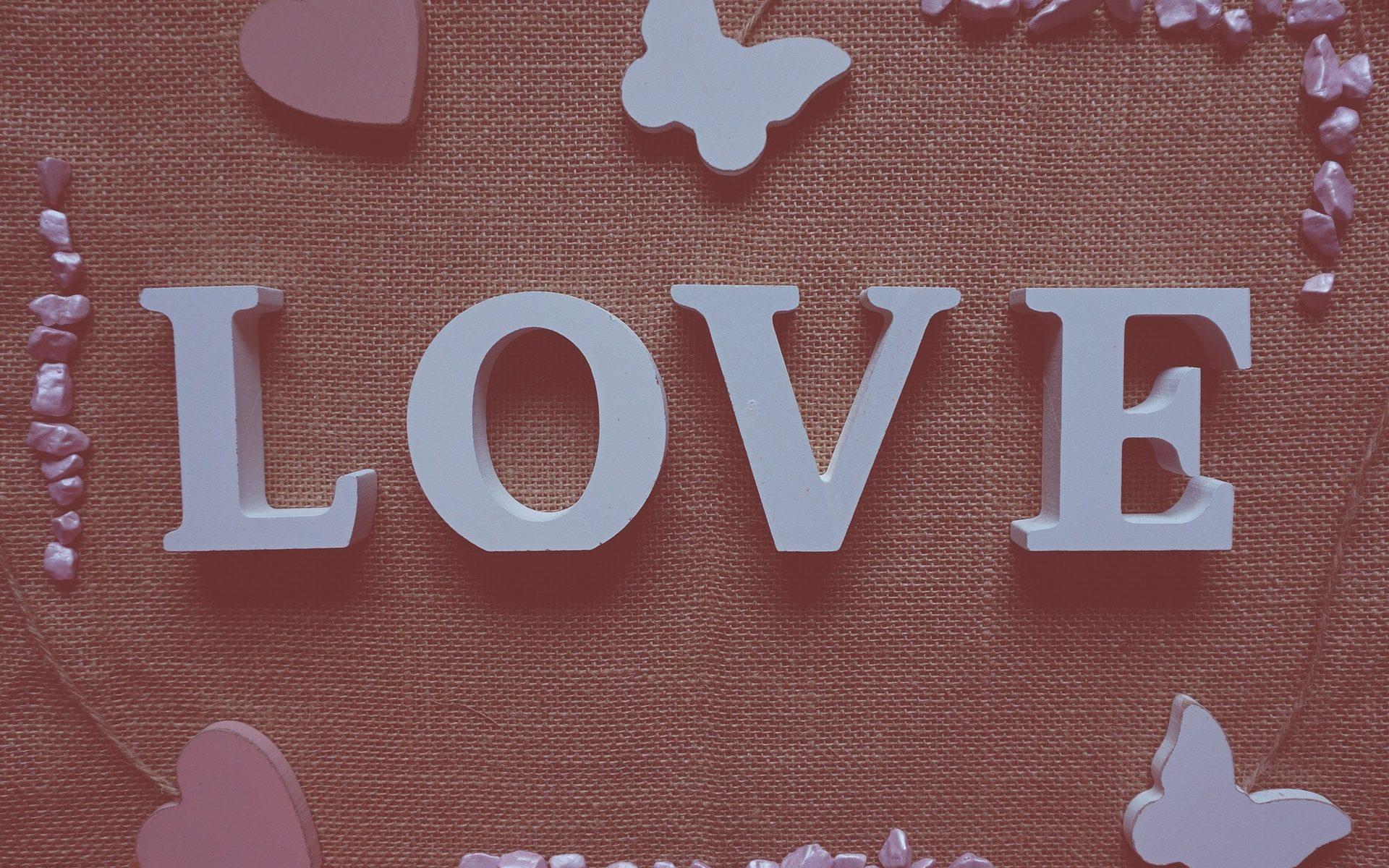 Letras boda cartón