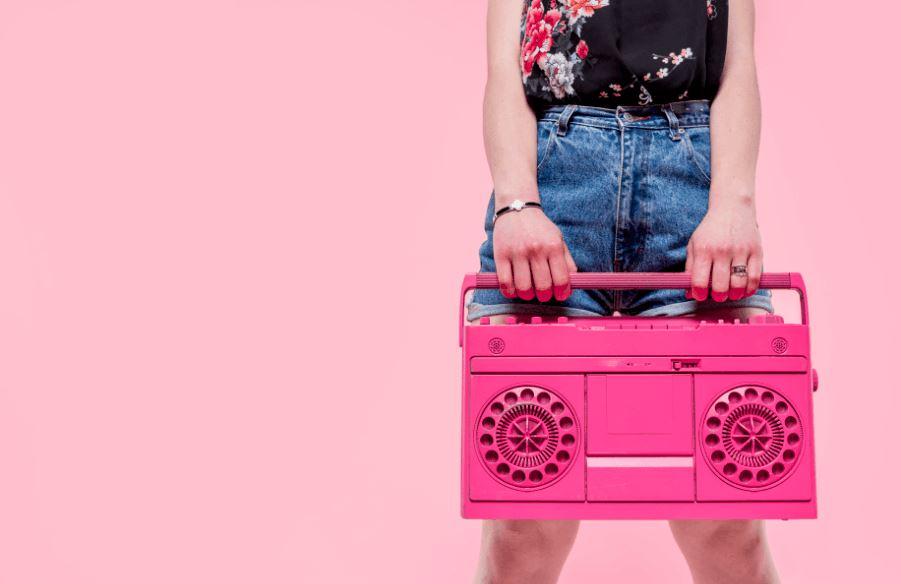 Radio cassette vintage cómo regalo