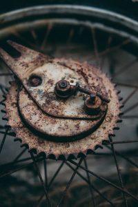 Quitar óxido bicicleta restaurada