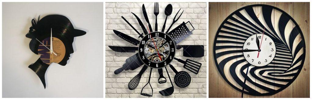 Reloj con discos vinilo paso a paso