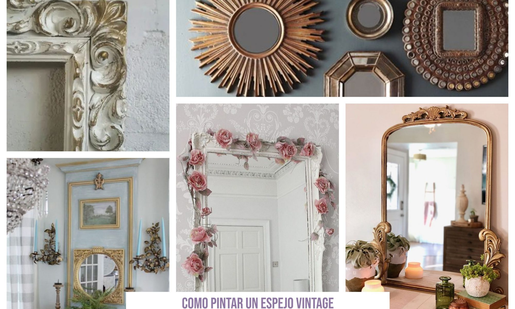 Como pintar un espejo vintage paso a paso