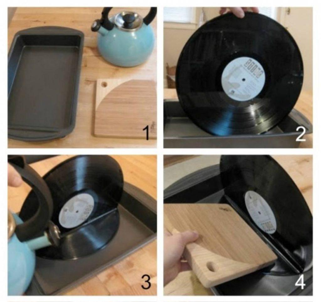Sujetalibros con discos vinilos Paso a paso